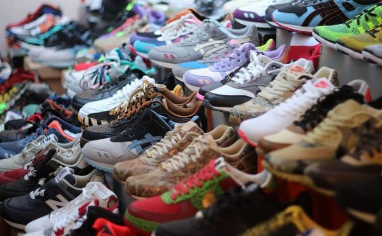 large sneakers collection