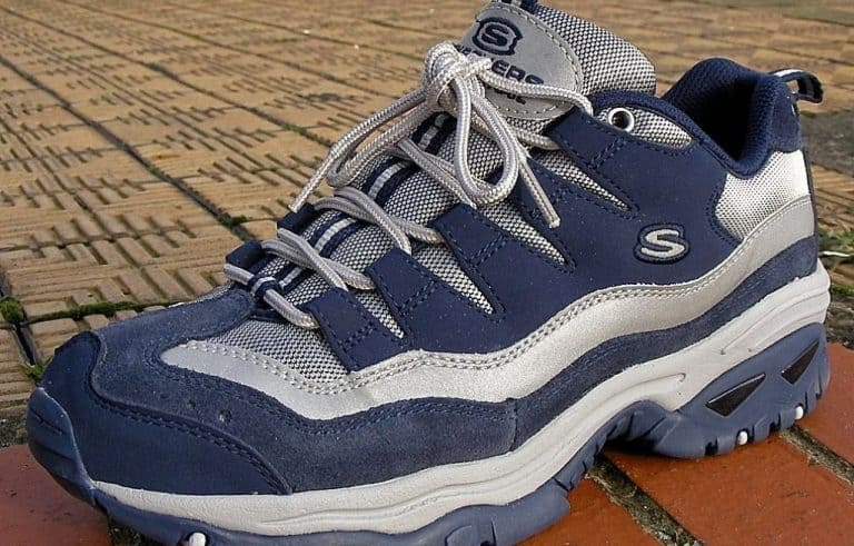 blue and grey skechers sports shoes