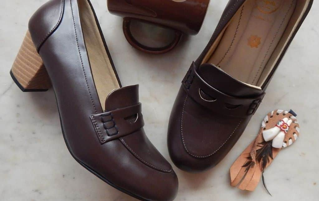 Browny Style Shoes and Brown Pair Mug