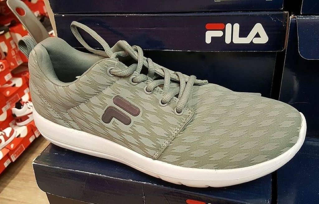 fila shoes on top of a brand box