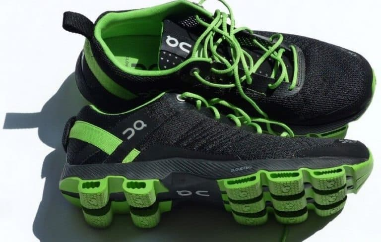 green and black on shoes