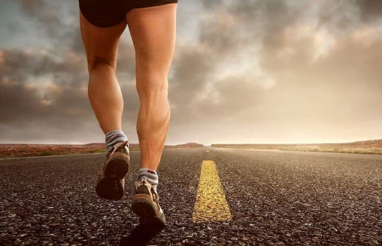 man running in sport shoes